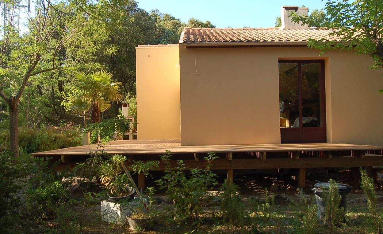 terrasse en bois lamell coll argillier r gion uzes dans le gard. Black Bedroom Furniture Sets. Home Design Ideas