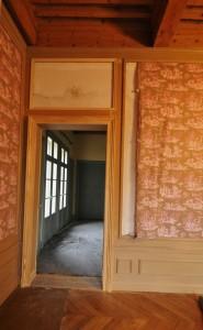 chambranle de porte dans un chateau