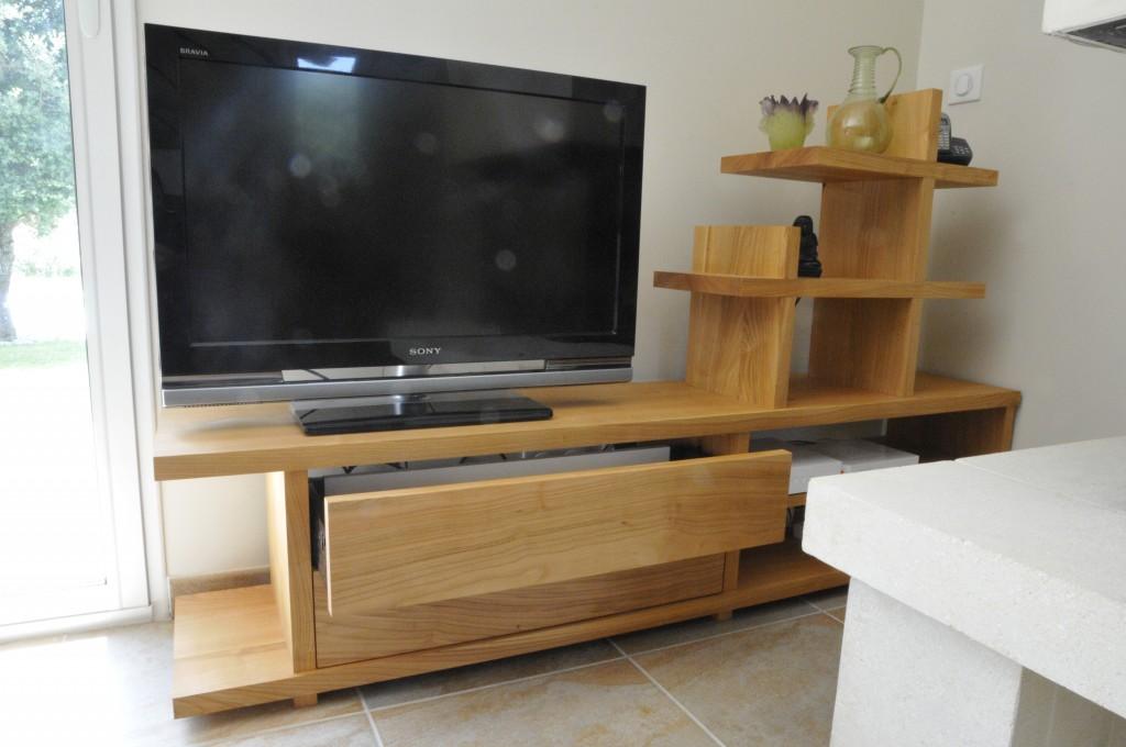 meuble télé design bois massif