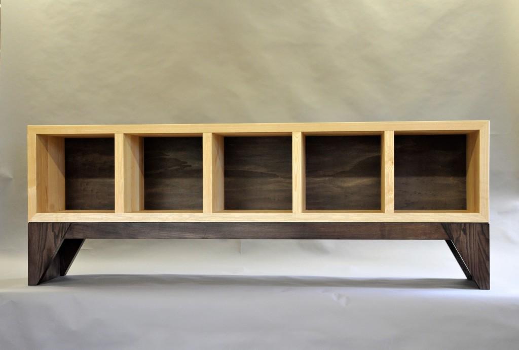 Meuble rangement vinyls enfilade basse for Enfilade meuble